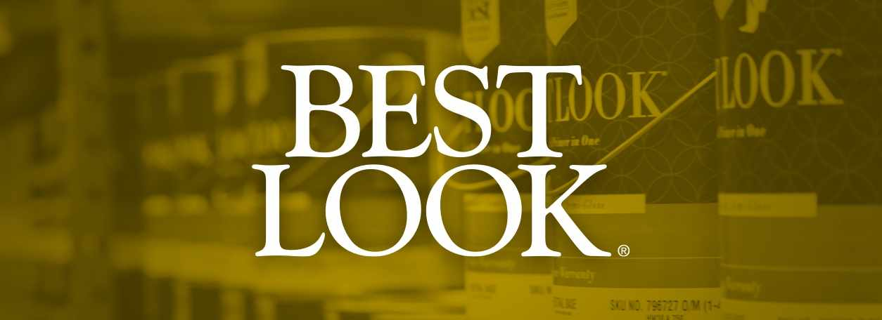 Best Look logo on yellow background