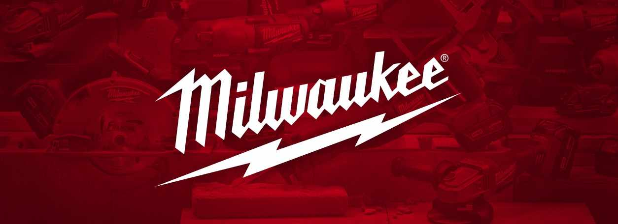 Milwaukee logo on red background