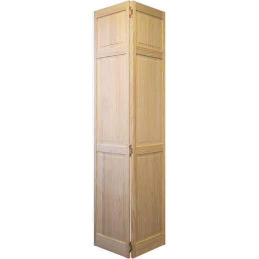 Jeld Wen 36 In. W. x 80 In. H. Pine 3-Panel Natural Color Bifold Door