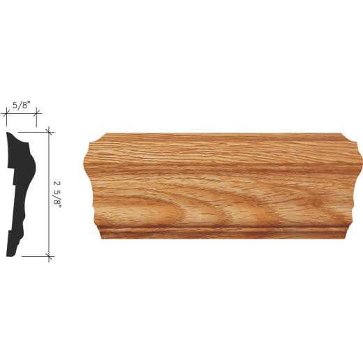 Inteplast Building Products 5/8 In. x 2-5/8 In. x 8 Ft. Majestic Oak Polystyrene Chair Rail Molding