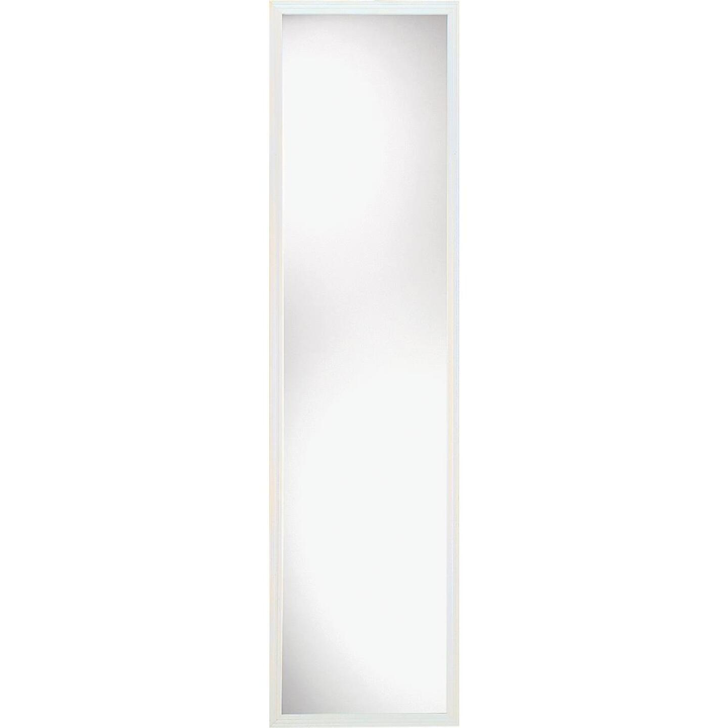 Home Decor Innovations Suave 13 In. x 49 In. White Plastic Door Mirror Image 1