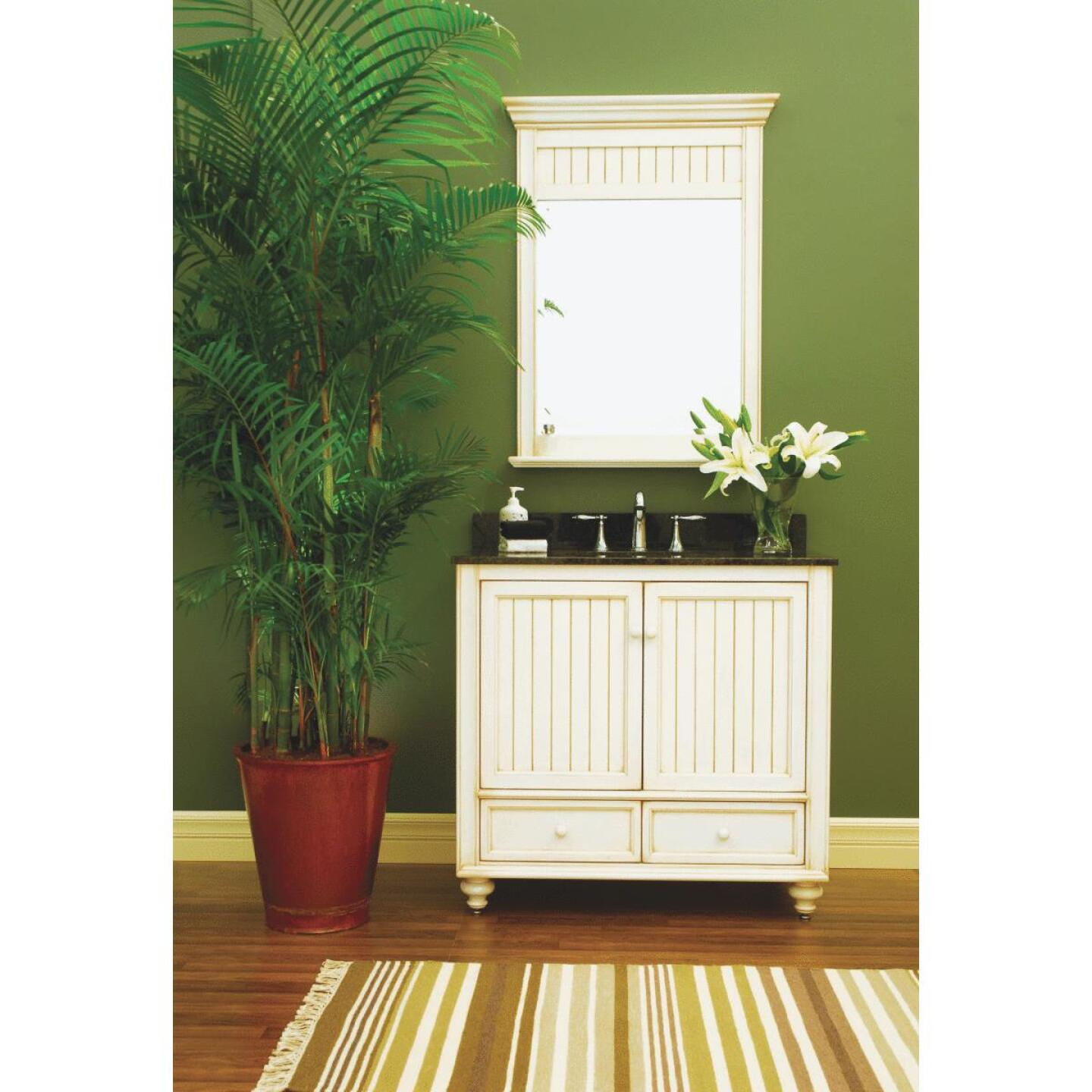 Sunny Wood Bristol Beach White 30 In. W x 34 In. H x 21 In. D Vanity Base, 2 Door/1 Drawer Image 2