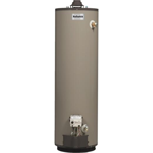 Reliance 40  Gal.. Tall 9 Yr. 40,000 BTU Self-Cleaning Natural Gas Water Heater