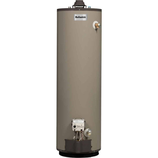 Reliance 50 Gal. Tall 9yr 40,000 BTU Self-Cleaning Natural Gas Water Heater