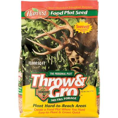 Evolved Harvest Throw & Gro 5 Lb. 11,000 Sq. Ft. Coverage Clover, Brassica, & Tetraploid Ryegrass Forage Seed